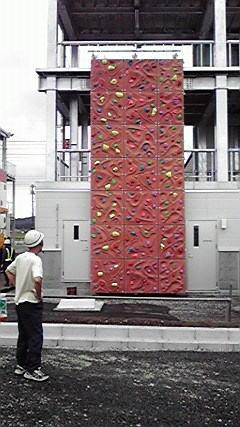 公共施設等のクライミングウォール施工例